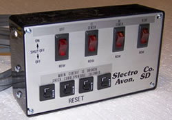 Slectro shut-off swith panel